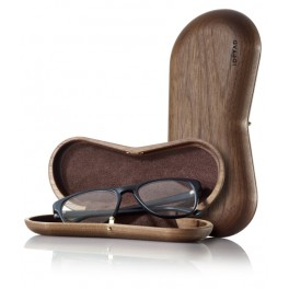 Solid wood case for spectacles: Walnut
