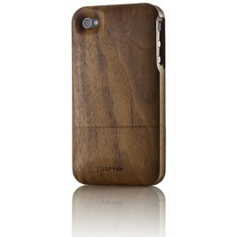 iPhone 4/4S Holz-Cover Nussbaum